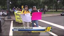 Federal workers protest government shutdown in Raleigh
