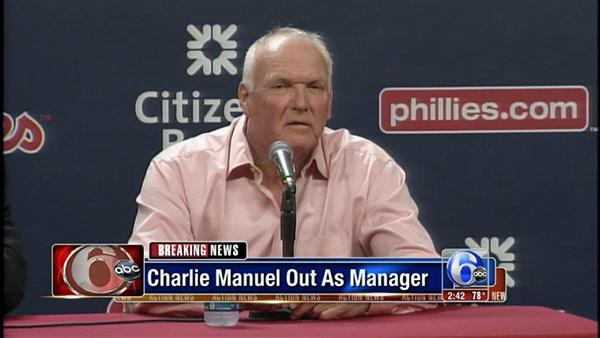 Charlie Manuel is out as manager of Philadelphia Phillies