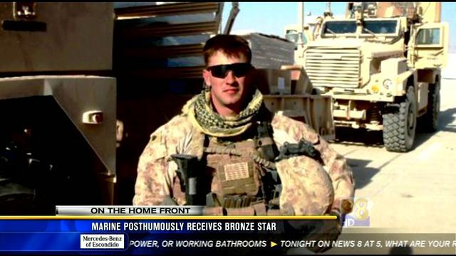 Marine posthumously receives Bronze Star