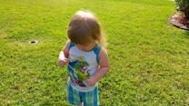Toddler hilariously fails at blowing bubbles