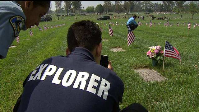 100K Memorial Flags Placed Along Military Gravesites