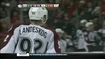 Gabriel Landeskog finishes on his backhand
