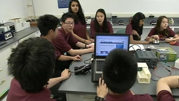 Bay Area students watch SpaceX launch intently