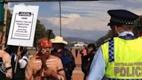 Aboriginal Demonstrators Prevented From Marching in Canberra