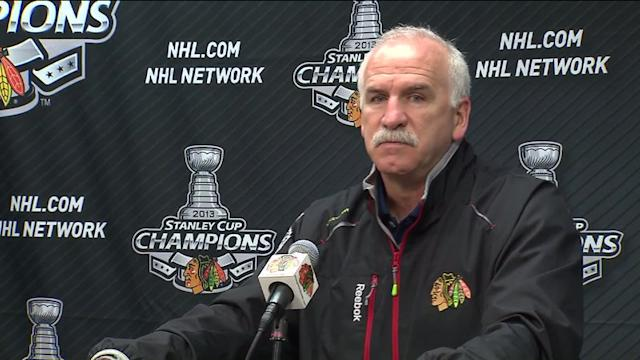 RAW: Blackhawks a `nice group to work with,` coach says