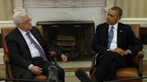 Obama urges Palestinian leader to take risks for peace with Israel