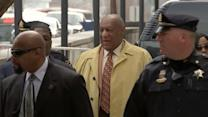 Bill Cosby arrives at court for a hearing related to his sex assault trial