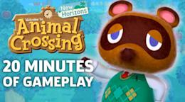Animal Crossing New Horizons Co Op Gameplay 20 Minutes Of Off