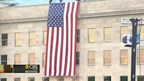 Flag hung on Pentagon in memory of 9/11