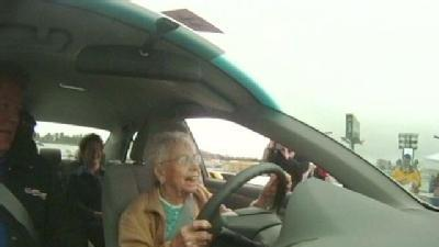 100-Year-Old NASCAR Fan Takes Trip Around Track