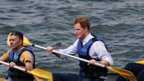 Raw: Prince Harry Takes a Canoe Ride