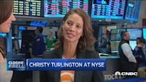 Christy Turlington at the NYSE