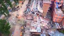 Dramatic Drone Footage Shows Quake Damage in Nepal