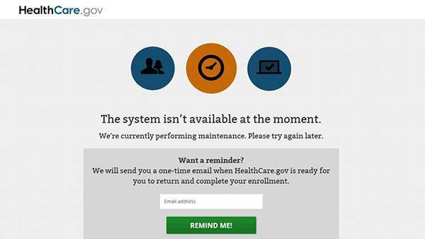 Trouble accessing Obamacare website