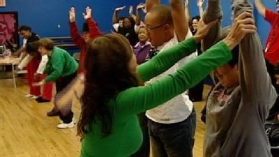 Special Needs Students Break It Down For Dance Party