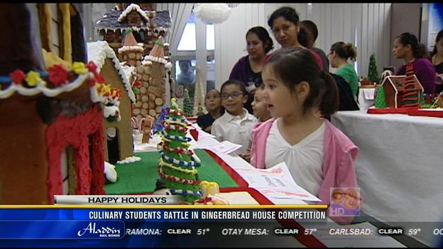 Culinary students battle in gingerbread house competition