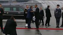 Obama arrives in Poland ahead of Ukraine talks