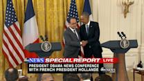 Obama Promises Hollande 'Total Solidarity' With France