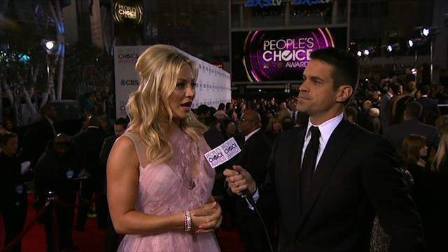 39th Annual People's Choice Awards - Red Carpet Interview: Kaley Cuoco