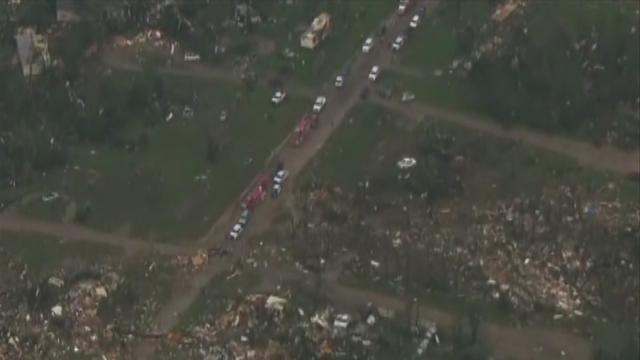 Oklahoma City helicopter pilot describes Shawnee tornado destruction after storms