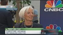 IMF's Lagarde: Global economy turning corner, not there y...