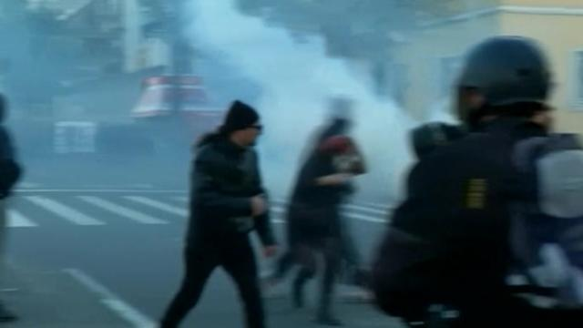 Greek police fire tear gas at student protesters