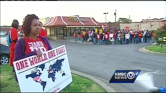 KC fast-food workers call for wage increase, right to form union