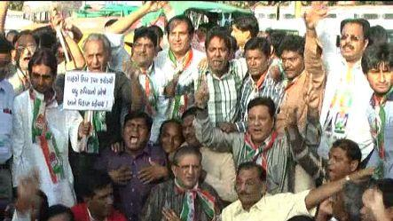 Protest on increase in CNG, PNG prices in Gujaratrn