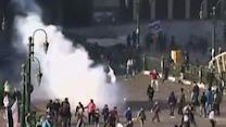 Raw: Tear Gas Fired at Egyptian Protesters