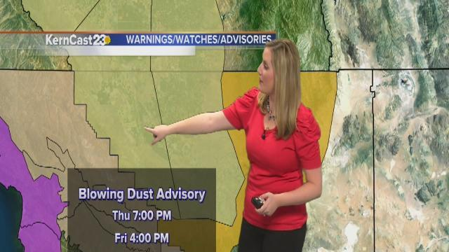 Dangerous gusting winds kick up blowing dust today