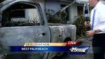 Accident sparks explosion in front of WPB home