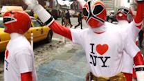 Power Rangers invade NYC on 20th Anniversary