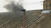 Black Smoke Signals No Pope After Third Ballot