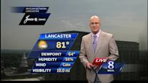 Higher humidity expected today