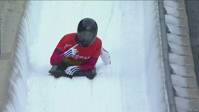 Great Britian's Lizzy Yarnold wins skeleton gold at World Cup in Winterberg