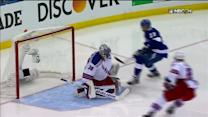 Lundqvist stones Brown on the breakaway