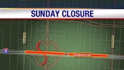 I-10 Westbound To Close Sunday In Metairie