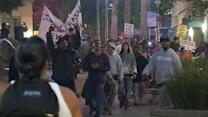 Demonstrators peacefully march in Oakland Friday