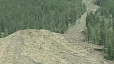 Raw Video: Canada landslide engulfs four homes