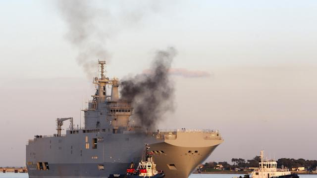 Pressure on France to scrap Russia warship deal