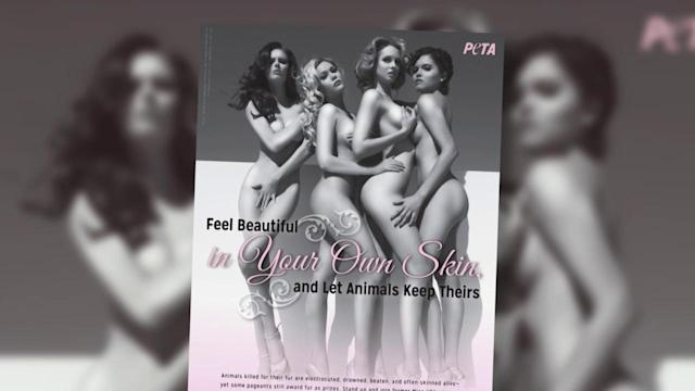 Former Miss USA Winners Get Naked for PETA