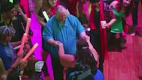 'Dancing man' gets the last laugh