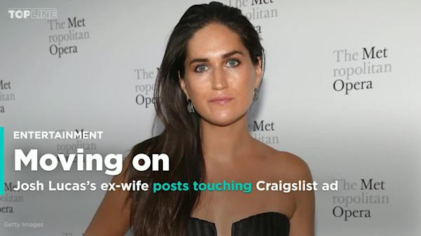Josh Lucas's ex-wife posts touching Craigslist ad about moving on