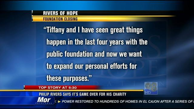 Philip Rivers says it's game over for Rivers of Hope charity