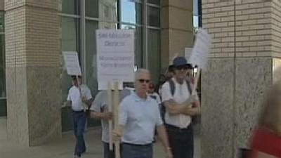 Unions Protest Big Cuts To City Budget