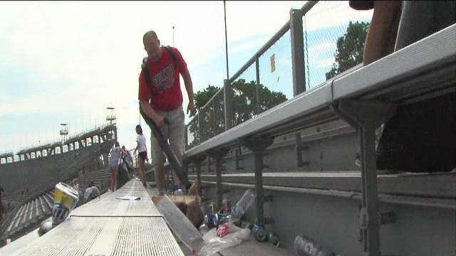 Groups cash in on Indy 500 cleanup