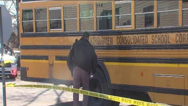 School bus hits boy, runs over girl at bus stop near Taylorsville