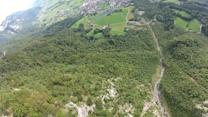 BASE jump point-of-view from The Alps