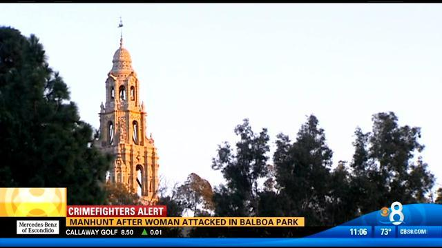 Manhunt after woman attacked in Balboa Park
