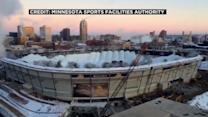 Metrodome roof detonated in controlled explosion